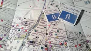 Plan des Soldiner Kiez mit einem Verzeichnis aller Institutionen und Einrichtungen